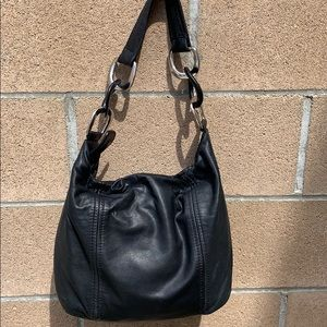 Michael Kors soft buttery hobo ring handbag black